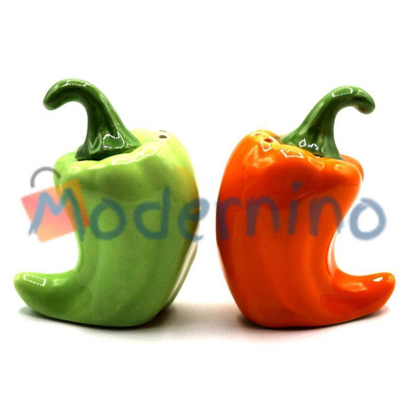 ست نمک و فلفل پاش امبیکو طرح فلفل رنگ سبز و نارنجی