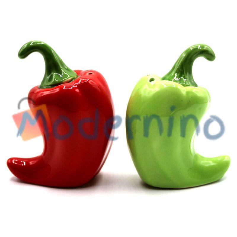 ست نمک و فلفل پاش امبیکو طرح فلفل رنگ قرمز و سبز