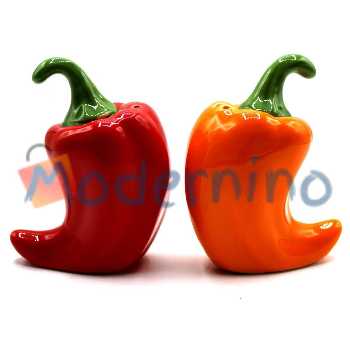 ست نمک و فلفل پاش امبیکو طرح فلفل رنگ قرمز و نارنجی