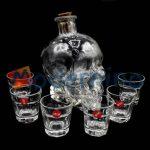 ست 7 عددی تنگ جمجمه و شات بلور مدل ایکس هالووین