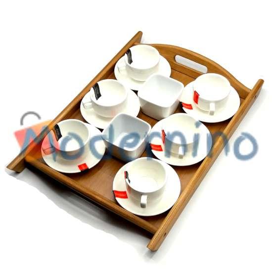 سرویس قهوه خوری بامبو سرامیک 15 پارچه مدل Brio