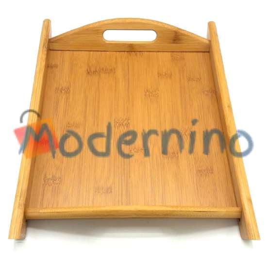 سینی بامبو Hokipo طرح مستطیل دسته دار سایز متوسط