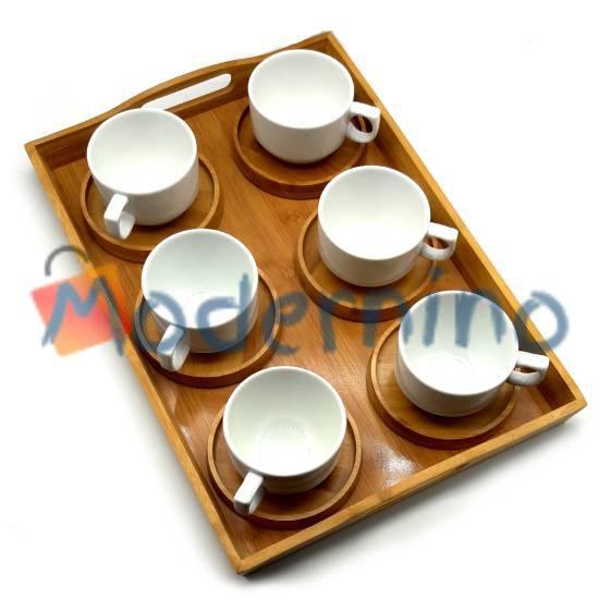 ست چای خوری بامبو سرامیک 6 نفره 13 پارچه BC6