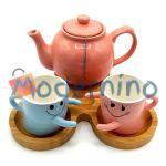 ست چای خوری بامبو سرامیک 2 نفره مدل Hugino