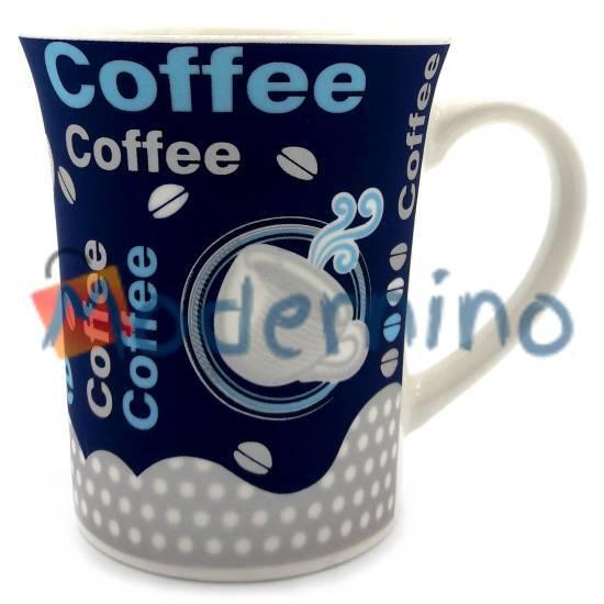 ماگ چینی LLSAIDA طرح مخملی Coffee سرمه ای مدل 5011