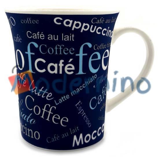 ماگ چینی LLSAIDA طرح مخملی Coffee سرمه ای مدل 5012