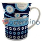 ماگ چینی LLSAIDA طرح مخملی Coffee سرمه ای مدل 5013