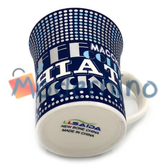 ماگ چینی LLSAIDA طرح مخملی Coffee سرمه ای مدل 5014