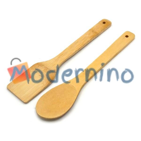 ست کفگیر و قاشق آشپزی بامبو 2 پارچه
