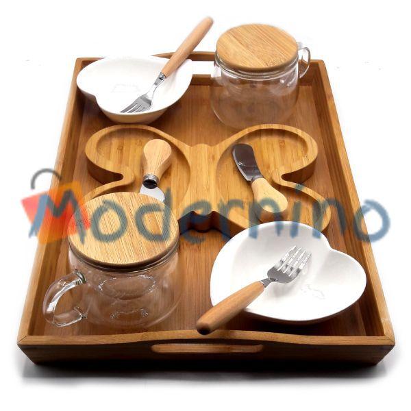 سرویس صبحانه خوری بامبو مدل Butterfly دو نفره 14 پارچه