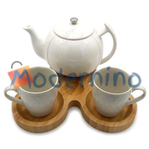 ست چای خوری بامبو سرامیک 2 نفره مدل White