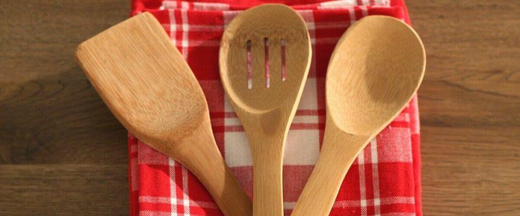 کفگیر چوبی بامبو
