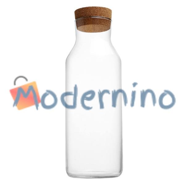 بطری شیشه ای با درب چوب پنبه ای طرح ایکیا