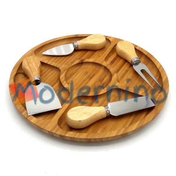 ست سرو پنیر بامبو 5 پارچه مدل Nova