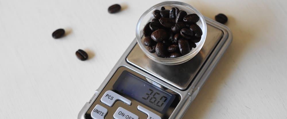 اندازه گیری قهوه