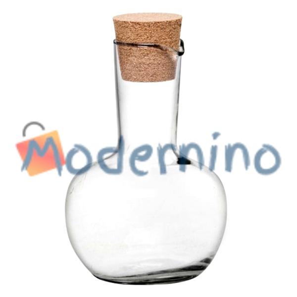 بطری آبلیمو خوری شیشه ای با درب چوب پنبه ای