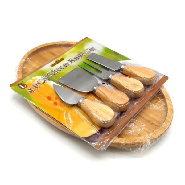 ست سرو پنیر بامبو 5 پارچه مدل Deniz